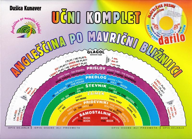 Možnost naročila kompleta Dušice Kunaver – Angleščina po mavrični bližnjici